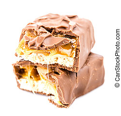 Snickers on white background