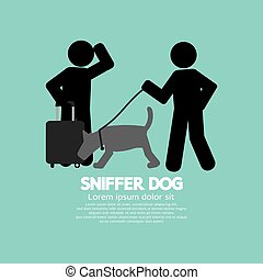 Sniffer Dog Symbol.