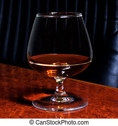 Snifter glass of cognac