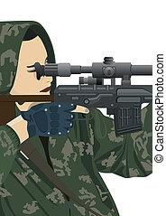 Sniper and sniper scope
