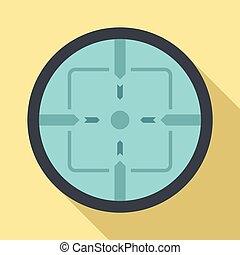 Sniper elite aim icon, flat style