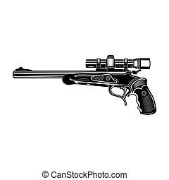 Sniper gun vector illustration