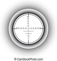 Sniper scope. Vector illustration.