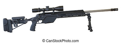 sniper rifle - bolt-action rifle with an adjustable stock,...
