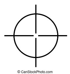 Sniper rifle cross hairs isolated on white background.