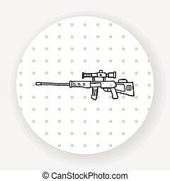 Sniper rifle doodle