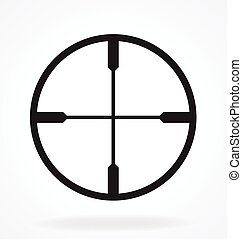 sniper rifle scope crosshair vector
