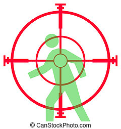 Sniper rifle sight or scope - Illustration of sniper rifle ...