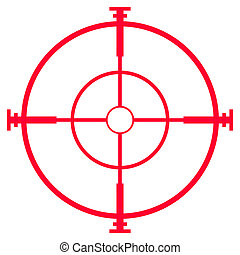 Sniper rifle sight or scope - Illustration of sniper rifle...
