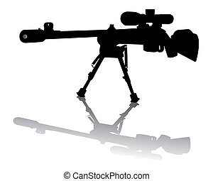 Sniper Rifle - sniper rifle on a white background