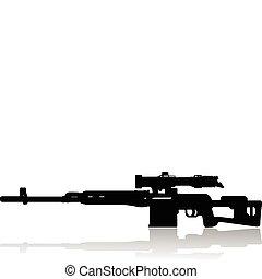 sniper rifle  - sniper rifle vector illustration