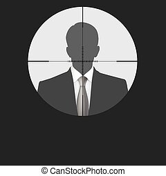 Sniper scope crosshair man silhouet