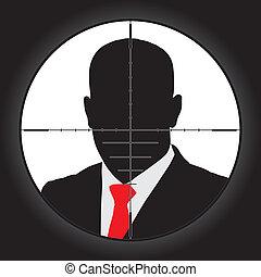 Sniper Scope - Sniper scope crosshair aiming man