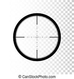 Sniper scope. focus on target through sniper scope. Vector