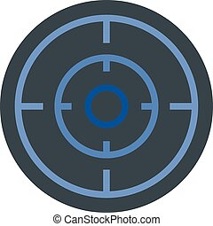 Sniper scope icon, flat style