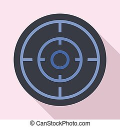 Sniper scope icon, flat style
