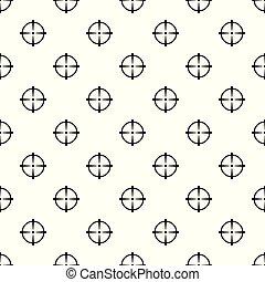 Sniper scope pattern seamless vector