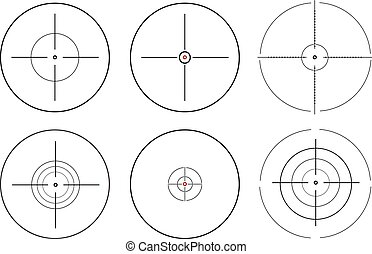 Sniper scope. vector illustration