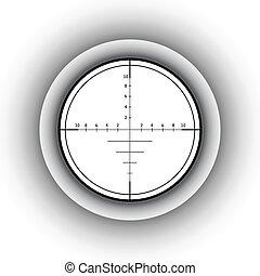 Sniper scope. Vector illustration.