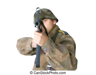 Sniper second world war isolated on white background
