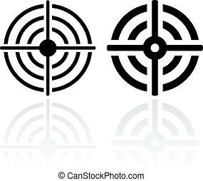 Sniper shooting aim icon