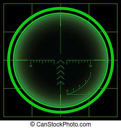 Sniper's cross or radar screen