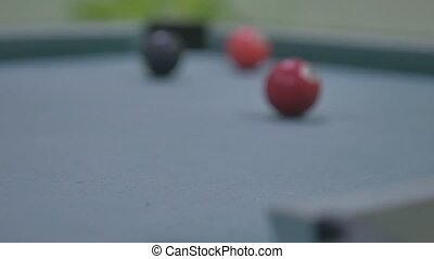 snooker ball Pool pocket billiards on snooker sport table...