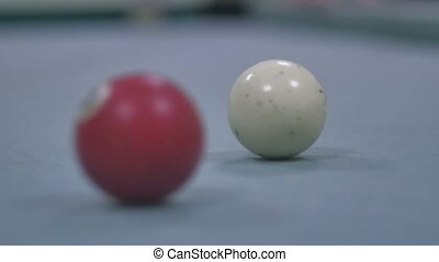 snooker ball Pool pocket billiards on snooker table sport...