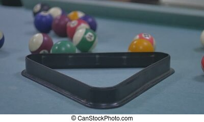 snooker ball Pool pocket billiards on sport snooker table...