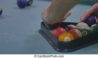 snooker ball Pool pocket billiards sport on snooker table...