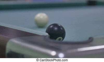 snooker ball Pool pocket sport billiards on snooker table...