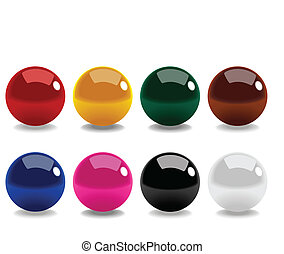 Snooker Balls - Stock vector of snooker balls isolated on...