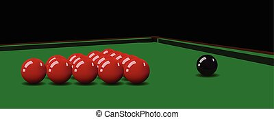 Snooker balls on the table. Vector illustration