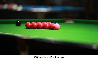 Breaking balls - snooker