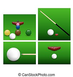 snooker, conjunto