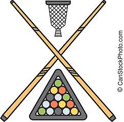 Snooker cue billiard sticks vector. - Snooker cue billiard...