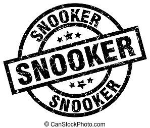 snooker round grunge black stamp