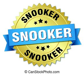 snooker round isolated gold badge