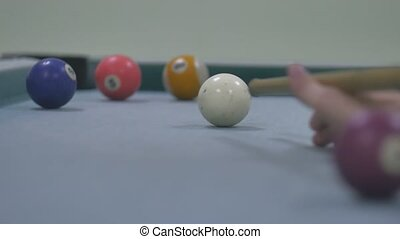 snooker sport ball Pool pocket billiards on snooker table...
