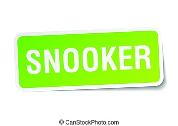 snooker square sticker on white
