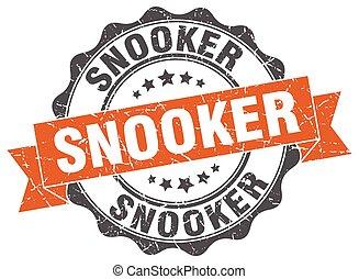 snooker stamp. sign. seal