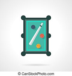 Snooker table flat color vector icon