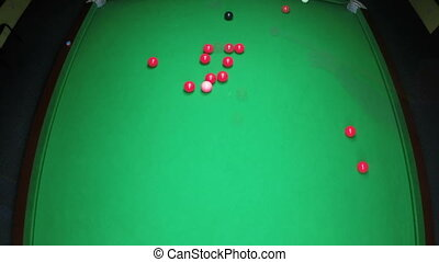 Snooker Table Top view timelapse