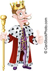 Snooty Cartoon King - Cartoon king character illustration...