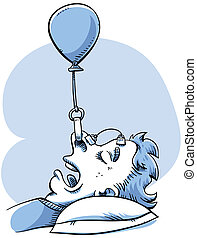 Snoring Control - A woman rigs a balloon device to help her...