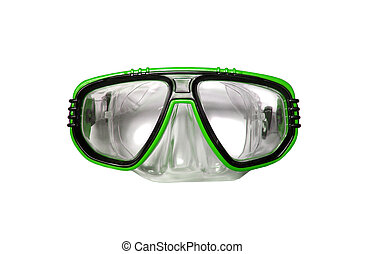 Snorkel and Mask for Diving isolated