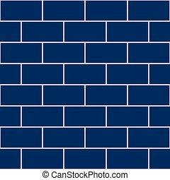 Snorkel Blue Brick Wall Seamless Background