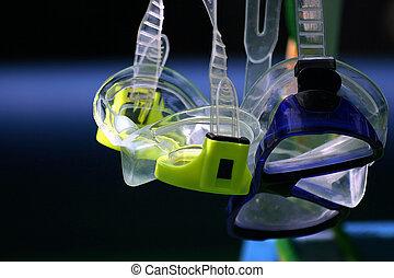 Snorkel goggles - A pair of snorkel goggles.