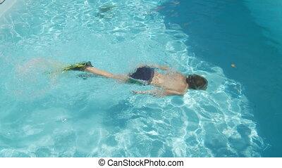 snorkeling boy