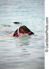 snorkeling, hombre